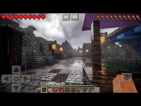 Best Minecraft Texture Packs 2020.Mcpe 1 6 Top 3 Best Ultra Realistic Shaders Minecraft Pe