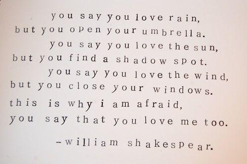 oh shakespeare, shakespeare.