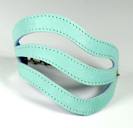 Cool Leather mint Bracelet
