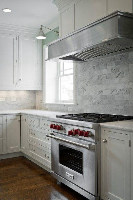 Kitchens   subway tiles backsplash white creamy shaker kitchen ...