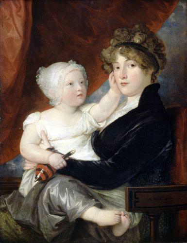 West, Benjamin Mrs Benjamin West II with her son Benjamin West III 1805