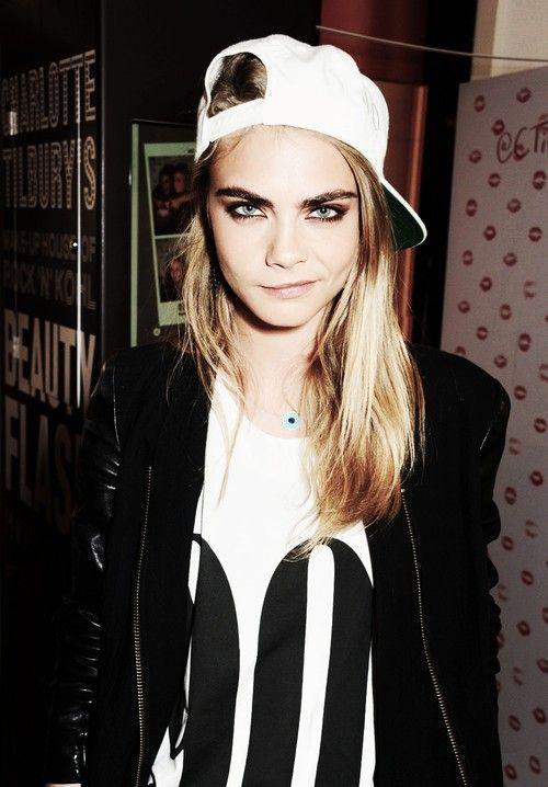 style icon, tomboy Cara Delevingne.