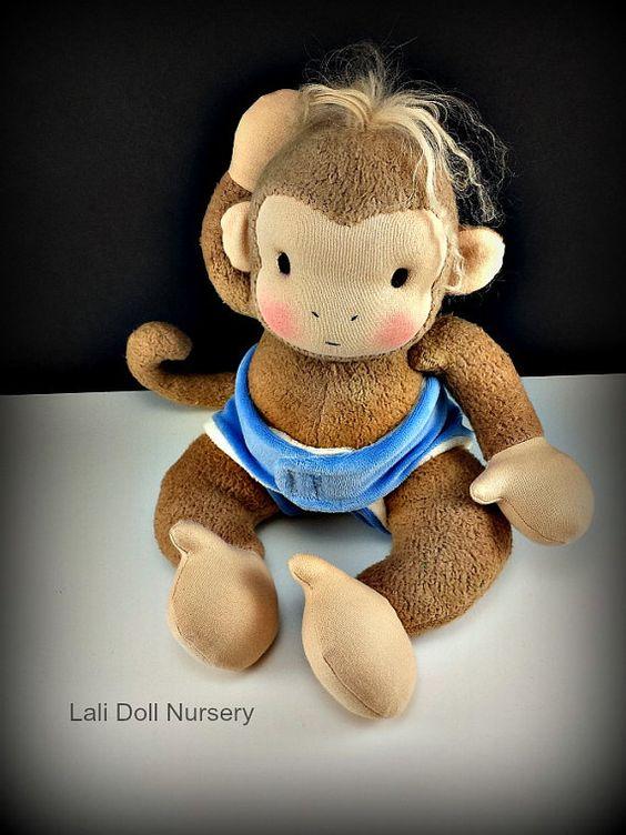 PDF Muster Affe Waldorf Puppe von LaliDolls auf Etsy