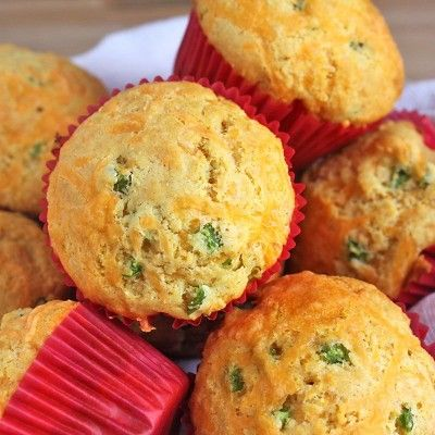 These savory cheese and scallion muffins are incredibly easy to make and require no equipment.