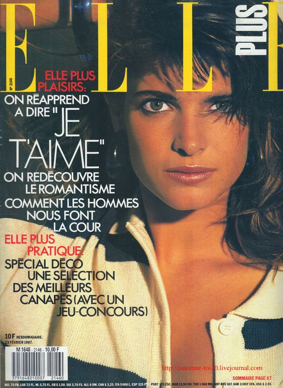 Elle France February 23rd, 1987: Stephanie Seymour by Marc Hispard