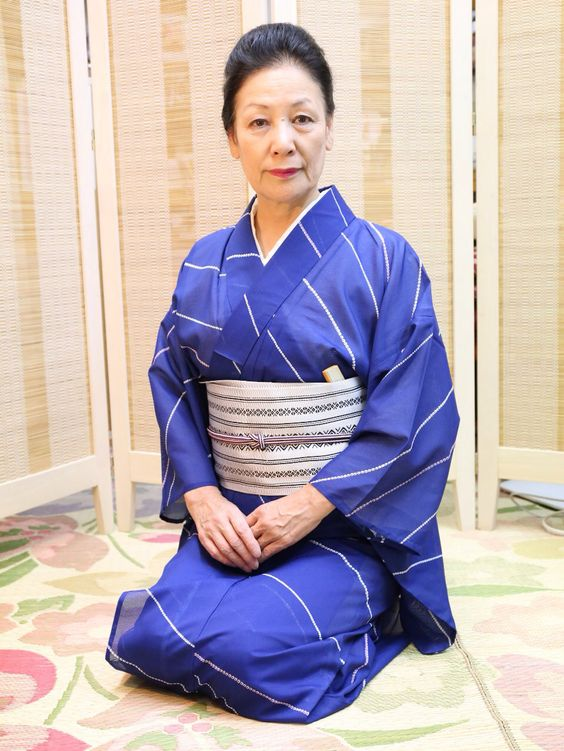 This is Okamisan, my Kimomo teacher.