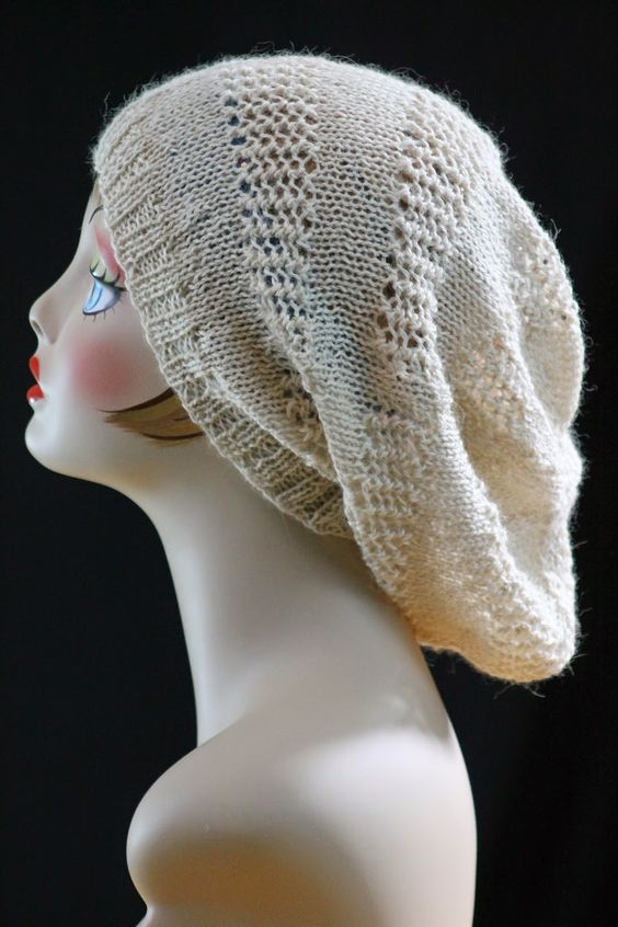 Knitting Patterns For Beanies With Straight Needles : Super Slouch Hat: made with roughly 220 yards of dk weight ...