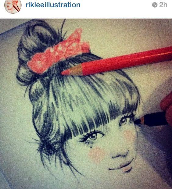 great drawings drawings ️ ️ rik lee hairrr art crafts crafts diy
