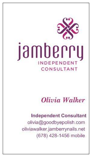 Just ordered my jamberry business cards from vistaprint i for Jamberry sample card template