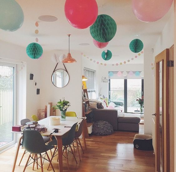 instagram analytics hanging decorations table and