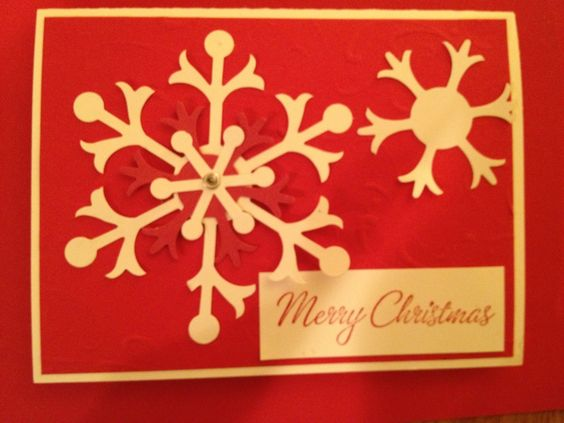 Christmas card made with bigs snow flurry