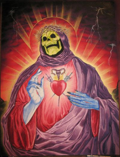 La virgen Skeletor…