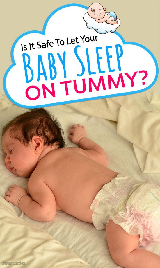 Is It Safe To Let Your Baby Sleep On Tummy? | Baby sleeping