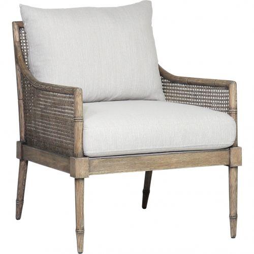 Spectra Home Furnishings C1047 10 Topaz Granite Largo Accent Chair Rustic Wood Cane Granite Fabric Rustic Accent Chair Affordable Home Decor Rustic Chair