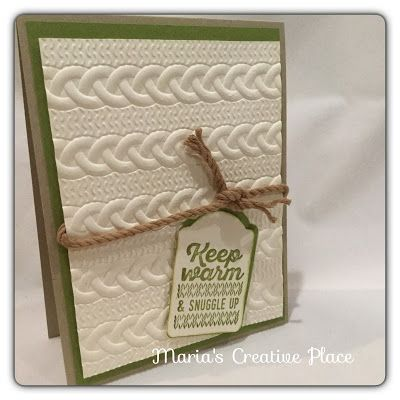 Stampin Up 2016 Holiday Catalog Wrapped in Warmth and Cable Knit Dynamic Texture Folder.