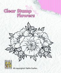 """Clear Stamp """"flowers"""" FLO011"""