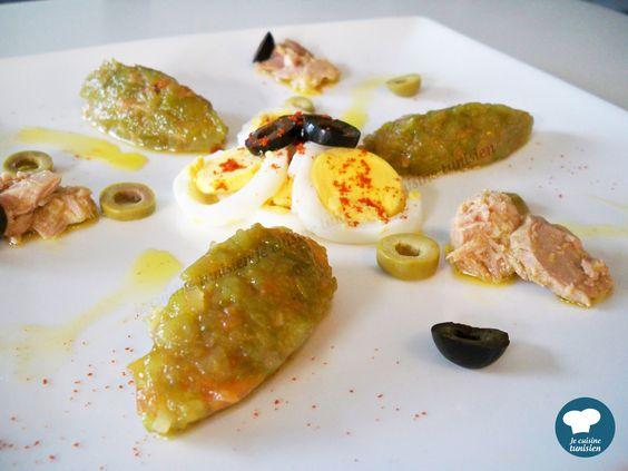 Slata mechouia recette tunisienne recette ici https for Cuisine tunisienne