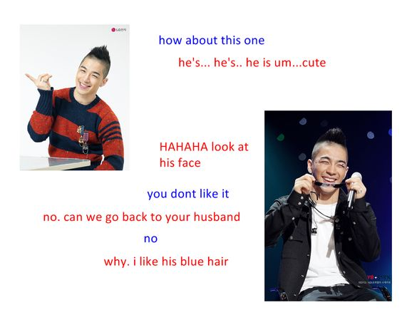 introducing a 5 year old to BIGBANG...blogger in blue, younger sister in red...hilarious!