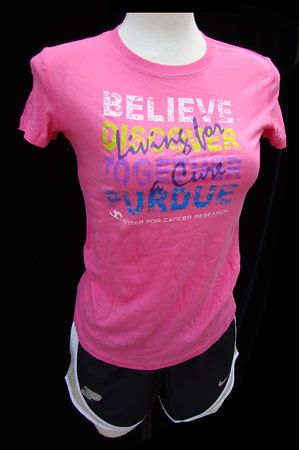 Pink Purdue Center For Cancer Research Women's T-shirt. All ...