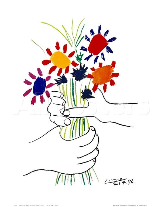 Pablo Picasso - Hands with Flowers, 1958
