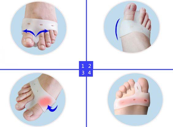 Toes 2pairs Prote??o para os Pés Silicone Gel Pad hálux valgo separador toe Multifuncional Protector + Frete Grátis em Ferramentas para cuidados com os pés de Beleza & saúde no AliExpress.com | Alibaba Group