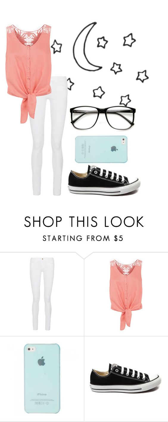 """""""Summer Nights"""" by pineapple-jorjor ❤ liked on Polyvore featuring moda, Frame Denim, Monsoon, Converse, women's clothing, women, female, woman, misses e juniors"""