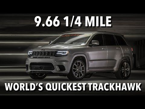 The Jeep Grand Cherokee Trackhawk Is Pretty Quick Out Of The Box But Texas Tuner Hennessey Performance Engineering Never Settles Jeep Jeep Grand Cherokee Suv