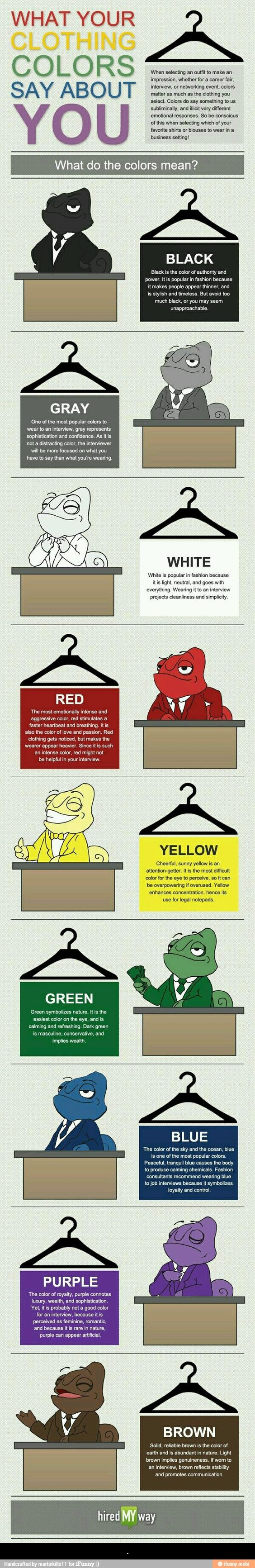 What your clothing colors say about you!