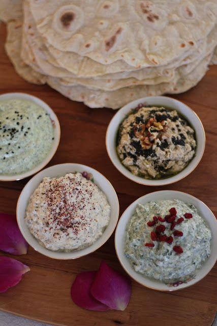Dips: Eggplant Borani. Mast-O Sersem. Spinach Borani . | Seasoning/Dip ...