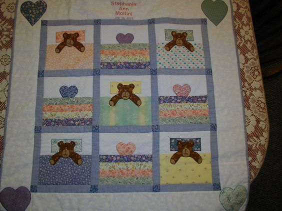 Applique bears under covers
