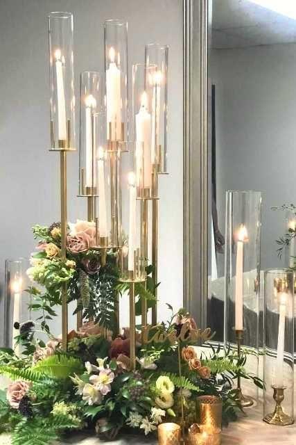 Aura Candelabra 1 Wedding Centerpiece Coisas De Casamento