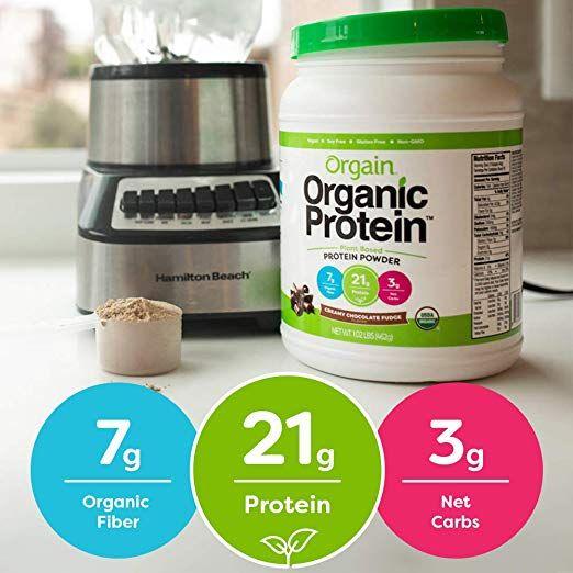 Best Tasting Vegan Protein Powder Orgain Organic Plant Based Protein Powder Creamy Chocolat Plant Based Protein Powder Organic Protein Casein Protein Recipes