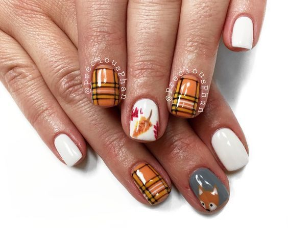 Plaid Nails Fox Nails Fall Nails Are You Looking For Autumn Fall Nail Colors Design For This Autumn See Our Collect Plaid Nails Fall Nail Designs Fox Nails