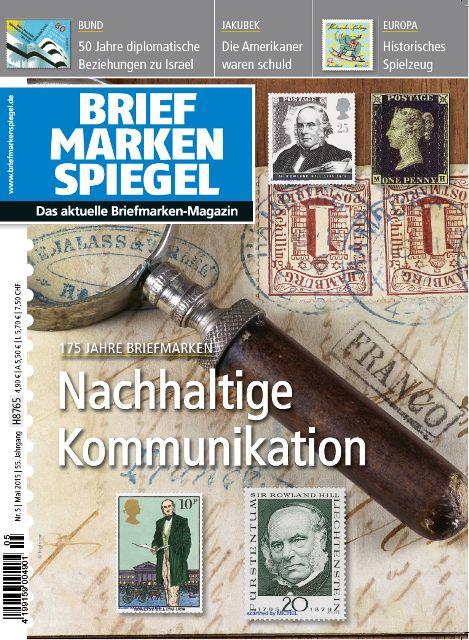 Titelbild des Briefmarken Spiegel Mai 2015