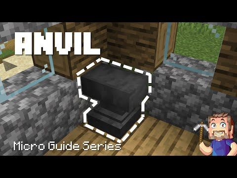 Anvil Minecraft Micro Guide Youtube Enchanted Book Anvil Minecraft