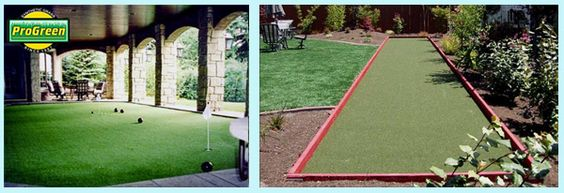 Artificial turf for bocce ball!