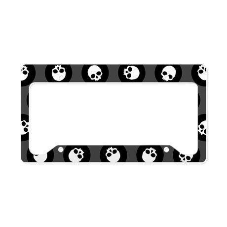 Skull Polkadots License Plate Holder on CafePress.com