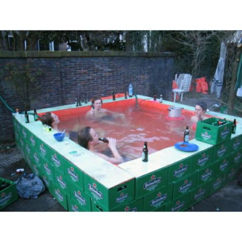Falls ihr gerne Bier trinkt und die Kisten noch hermumstehen habt, baut euch…
