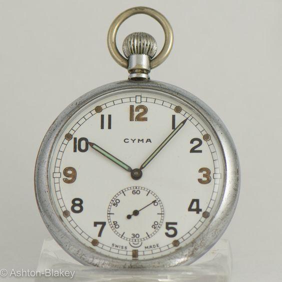 CYMA World War II military Pocket Watch