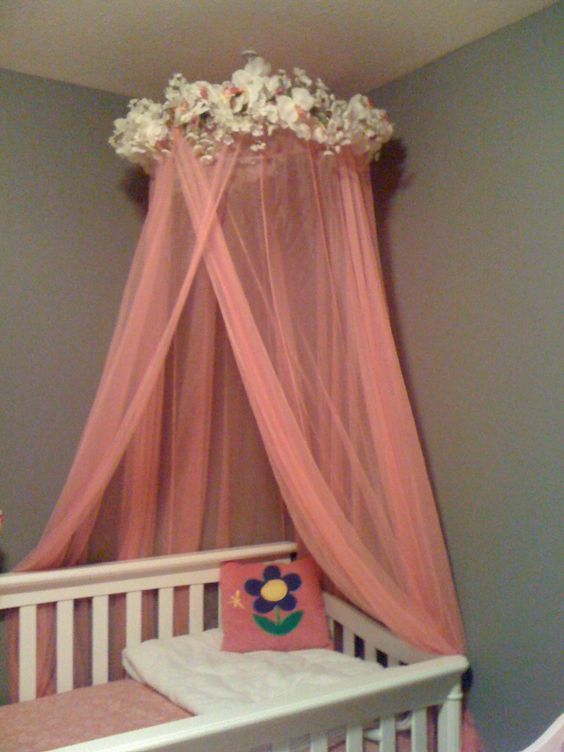 Over crib canopy we re hoping the process doesn t take for Diy canopy over crib