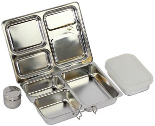 planetbox: rather expensive, eco friendly, dishwasher safe, recycleable, stainless steal, durable