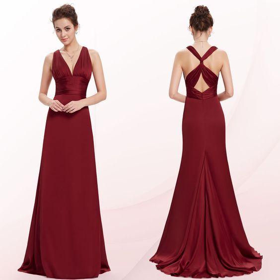 V neck evening dress ebay