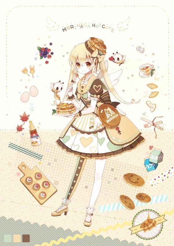 「ホットケーキ」/「Renian」のイラスト [pixiv] #オリジナル #女の子 #森永ホットケーキ擬人化