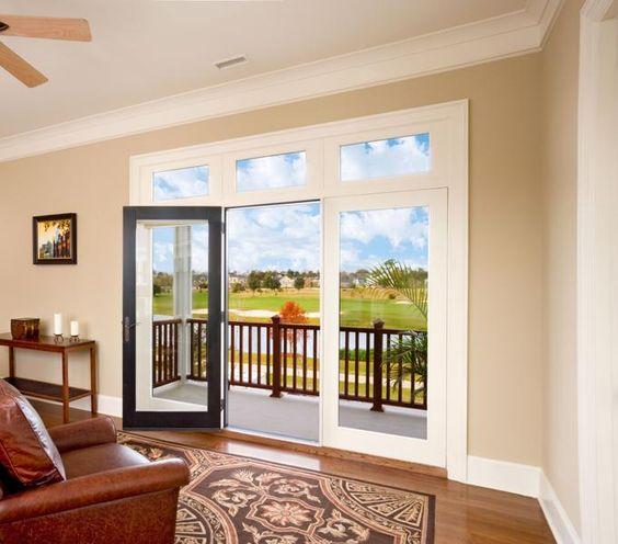 Doors glass doors and glasses on pinterest for Swinging patio door