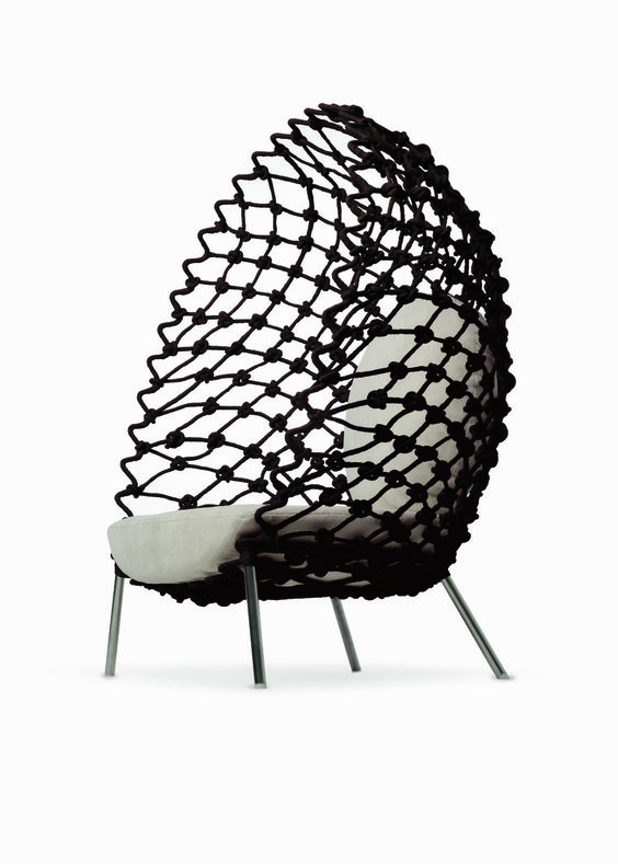 """Dragnet"" lounge chair by Kenneth Cobonpue"