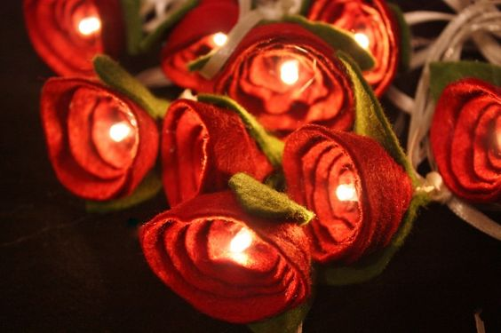 Red Rose Fairy Lights | wowthankyou.co.uk