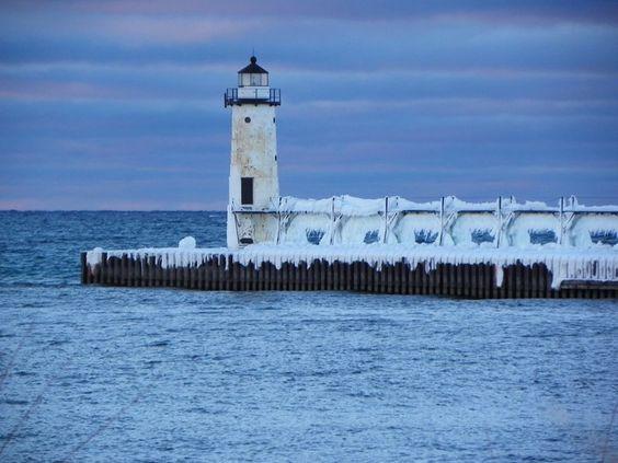 Lighthouse in Manistee, MI