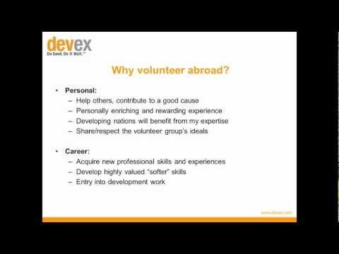 ▶ How to Turn That Volunteer Gig into a Full Time Paying Job #Devex