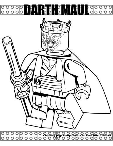 Awesome Darth Maul Coloring Page Coloring Pages Lego Coloring Pages Star Coloring Pages