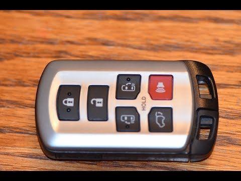 Diy How To Change Smartkey Key Fob Battery On Toyota Sienna Youtube Toyota Sienna Fobs Sienna